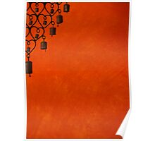 Burnt Orange Jewel Poster