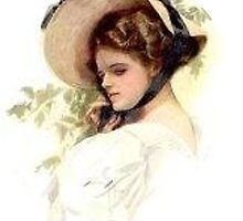 Vintage Lady and Hat by Roberta  Barnes
