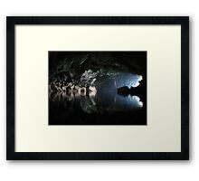 Awesome Lao cave Framed Print