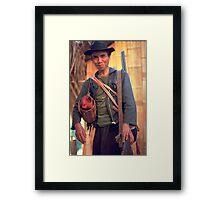 The cock hunter Framed Print