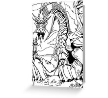 Pen and Ink collection - dragon Greeting Card