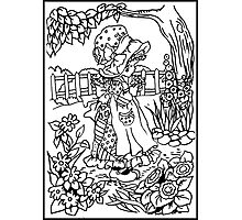 Pen and Ink Colection - Country Girl Photographic Print