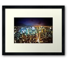 New York - City of Lights Framed Print
