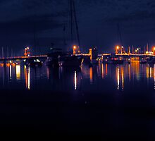 Lights on Eastport by Nelson  Ramm