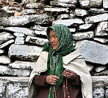 pilgrim. rewalsar, india by tim buckley   bodhiimages