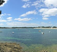 Panorama of the Odet estuary at Bénodet, Britanny, France by Philip Mitchell