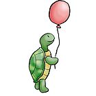 Turtle with balloon by sqbr