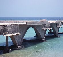 Abandoned Pier. North of Jeddah. Saudi Arabia. by Peter Stephenson