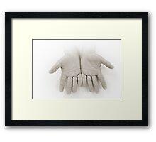 Hands: Openness Framed Print