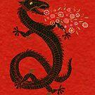 Flower-breathing dragon by SusanSanford