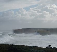 Winter Storm on Victorian Coastline by DianneLac