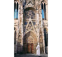 """Pilgrimage"" Chartres Cathedral Watercolor Photographic Print"