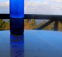 Bottled Blue - Mt Nelson Signal Station Cafe, Hobart, Tasmania by Deanna Roberts Think in Pictures