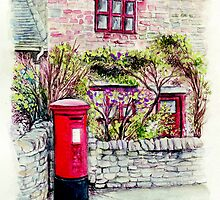 Country Village Post Box by morgansartworld