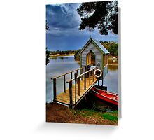 """Lunch Over The Lake"" Greeting Card"