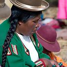 Peruvian lady sewing by Angela1