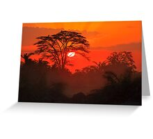 African Sunrise, Amboseli National Park, Kenya, Africa. Greeting Card