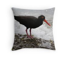 """""""The Sooty Oystercatcher"""" Throw Pillow"""