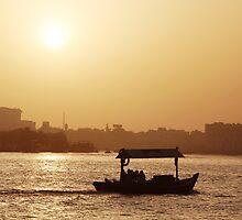Sunset, Dubai creek by mojgan