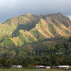 Clouds over Rarotonga by zsaleeba