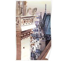 """""""Aspire"""" Cathedral of Notre Dame Watercolor Poster"""