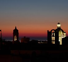 Trapani Rooftops at twilight by CiaoBella