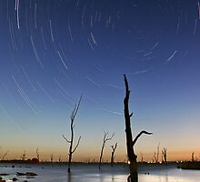 Star Trails Lake Mulwala by Annette Blattman