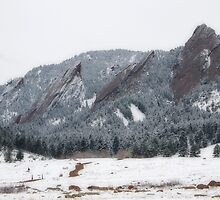 Flatirons in Winter by Vicky Hamilton