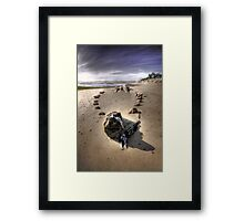 The Hammer Shipwreck Cape Cod HDR Framed Print