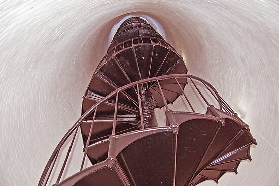 Staircase inside a Lighthouse by Ralph Angelillo