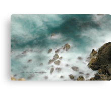 Byron Bay Midnight Ocean Rocks © Vicki Ferrari Canvas Print