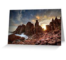 Sunset Pinnacles Greeting Card