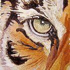 """Tiger Tiles""  Watercolor Mosaic by Paul Jackson"