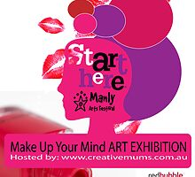 Make up your mind poster 4 by Angela  van Boxtel