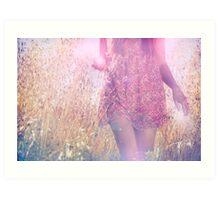 she chose a pink dress Art Print