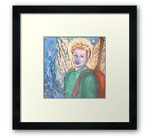 Adam with his angel wings Framed Print