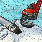 Red Pipe Wrench With Latest Subject by bernzweig