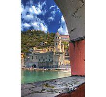 Vernazza - Through an Arch Photographic Print