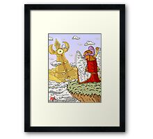 Gazing at the golden City Framed Print
