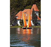 Worther See - Orange Sails Photographic Print