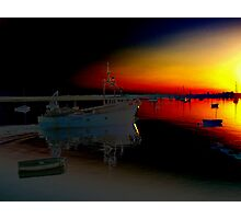 sailing into the fire Photographic Print