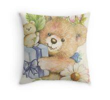 Teddy Bear Gift Throw Pillow