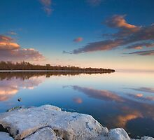 Salton Sea Sunset by photosbyflood