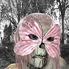 Pretty in Pink .. zombie in a mask by LoneAngel