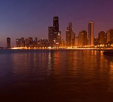 Chicago Skyline at dawn by Sven Brogren