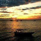 sunset ride by Tamara Cornell