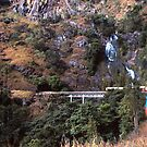 A train's eye view of a waterfall by georgieboy98