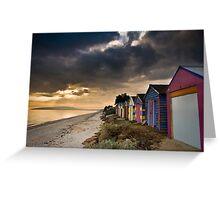 Beach Huts Greeting Card