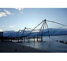 Chinese fishing nets, India Photographic Print