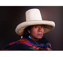 QUECHUA LADY - CAJAMARCA Photographic Print